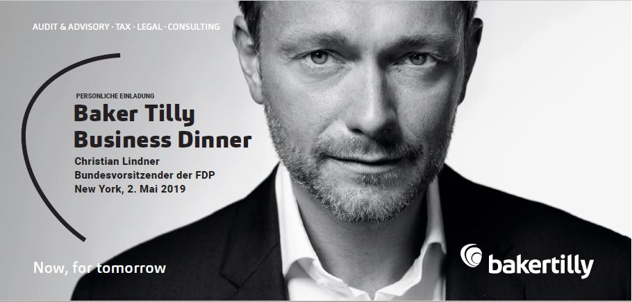 Baker Tilly Business Dinner mit Christian Lindner in New York »